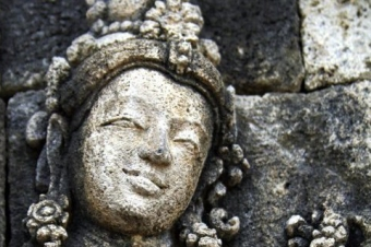 Ancient Goddess Stone Relief